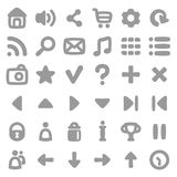 Game user interface icons kit. Icons in cartoon style. 36 UI UX icons set. GUI Stock Photography