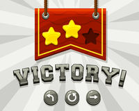Game victory screen Stock Images