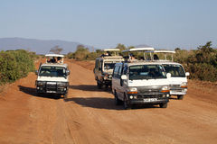 Game viewing vehicles Stock Image