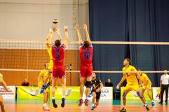 The game of volleyball Royalty Free Stock Photography