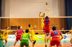 The game of volleyball Stock Photos