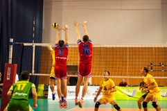 The game of volleyball Stock Photo