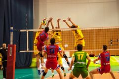 The game of volleyball Royalty Free Stock Images