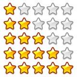 Game web rating stars set Royalty Free Stock Photo