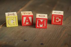 Game wood blocks Stock Photos