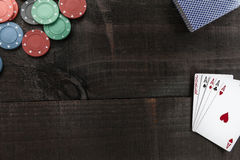 Game on Wood Royalty Free Stock Photography