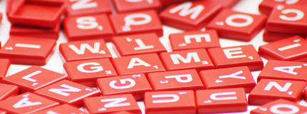 Game word with crossword Royalty Free Stock Photography