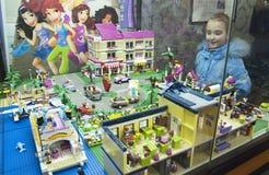 GameBrick. Modelos del museo y de la exposición de los cubos LEGO. St Petersburg Imágenes de archivo libres de regalías