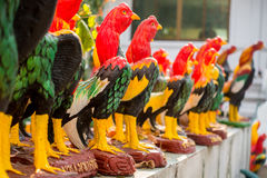 Gamecocks Statue in thai temple  for redeem a vow to a god, nati Stock Image