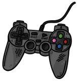 Gamecontroller Remote Line Art Vector Illustration Klipp Art Stockbilder