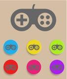 Gamecontrollerikone mit Farbveränderungen Stockbilder