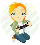 Gamegirl. Tomboy. Royalty Free Stock Images