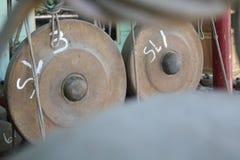 传统gamelan从Java 免版税库存图片