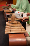 Gamelan Music Play. Malay traditional music instrument played in formal parties Stock Photos