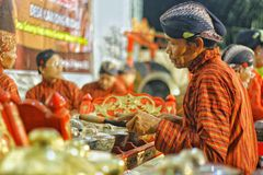 Gamelan, musical instrument culture. Gamelan , a musical instrument culture of Indonesia . This instrument is played by being struck. This tool is made of copper Royalty Free Stock Photos