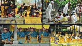 Gamelan orkester med typisk indonesisk musik Royaltyfria Bilder