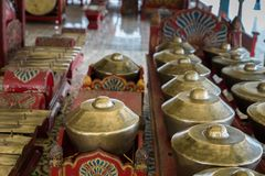 Gamelan, traditional balinese percussive music instruments in Bali and Java, Indonesia Stock Image