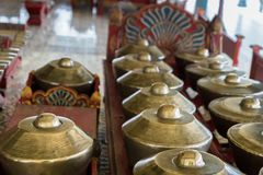 Gamelan, traditional balinese percussive music instruments in Bali and Java, Indonesia Royalty Free Stock Photos