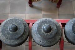 Gamelan traditionella instrument för slående musik för balinese i Bali och Java, Indonesien Royaltyfri Bild