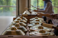 Gamelan, traditionelle Musikinstrumente in Indonesien Lizenzfreies Stockbild