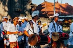 Gamelan tradycyjni muzycy, Bali, Indonezja Zdjęcie Royalty Free
