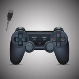 Gamepad控制杆 控制杆比赛控制台 现实图象 免版税库存照片