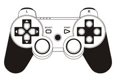 Gamepad Foto de Stock