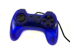 Gamepad. Blue gamepad on a white background Stock Images