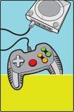 Gamepad avec la console Photographie stock libre de droits