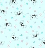 Gamepad bezszwowy wzór Zdjęcie Stock