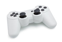 Gamepad blanc Photographie stock libre de droits