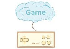 Gamepad and cloud Stock Image