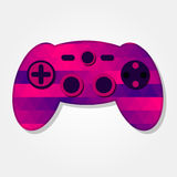 Gamepad with colorful triangles. Gamepad with a colored triangles forming a gradient, purple to pink Stock Image