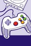 Gamepad com console ilustração royalty free