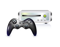 Gamepad with console. On white Stock Photography