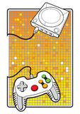 Gamepad with console. Vector illustration Gamepad with console Royalty Free Stock Image