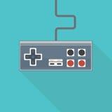 Gamepad di vecchio stile Fotografia Stock Libera da Diritti