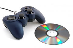 Gamepad e CD Foto de Stock Royalty Free