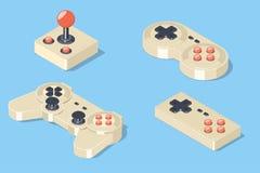 Gamepad et ensemble de manette Photo stock