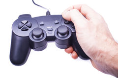 Gamepad in hand Royalty Free Stock Photography