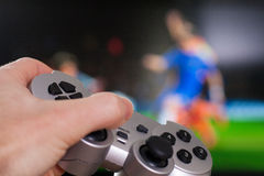 Gamepad in hand Royalty Free Stock Images