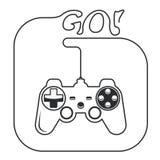 Gamepad - het controlemechanisme van de spelconsole Stock Foto