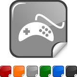Gamepad  icon. Gamepad sticker icon. Vector illustration Stock Images