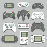 Gamepad icon set Royalty Free Stock Photo