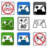 Gamepad icons set Stock Photo