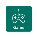 Gamepad ikona dla sieci i wiszącej ozdoby Zdjęcia Royalty Free