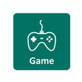 Gamepad-Ikone für Netz und Mobile Lizenzfreie Stockfotos