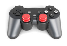 Gamepad a isolé sur un fond blanc 3d rendent des cylindres d'image Images stock