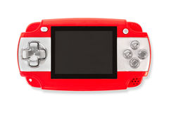 Gamepad isolated on a white. Red gamepad isolated on a white Royalty Free Stock Images