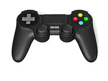 Gamepad joypad for video game console isolated Royalty Free Stock Photos